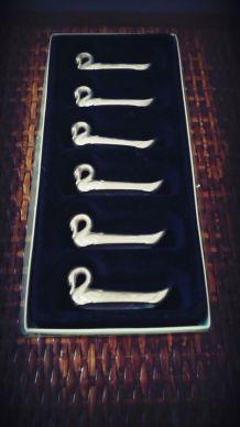 porte couteaux cygne argenté vintage