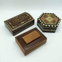 Lot de 3 boîtes en bois