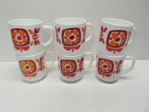 Lot de 6 mugs Mobil
