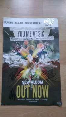 "Affiche du groupe ""You Me At Six"" 2010"
