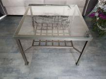 Vends table basse salon carrée 70×70 prix 15€