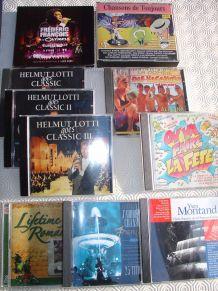 compact disques  anciens divers 8 fois 1 ou Double disque