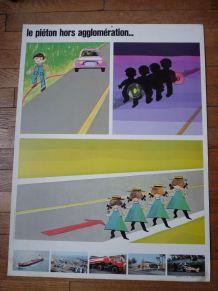 Affiche pédagogique de sécurité routière ANTAR