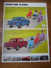 affiche pédagogique sécurité routiére des années 60