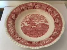 Grand plat creux en porcelaine