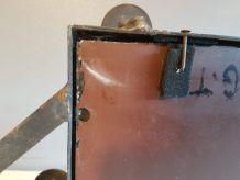 vestiaire art déco  fer forgé martelé avec miroir 7 patères