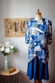 Robe vintage à motifs