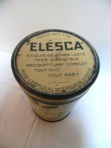boite vintage elesca petit déjeuner lacté