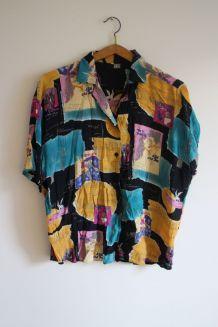 Chemise vintage colorée cinéma