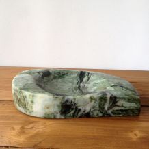 Cendrier en marbre onyx vert