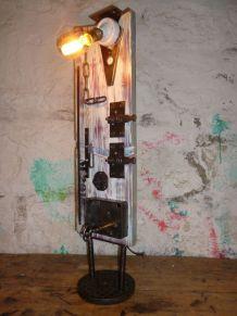 "LAMPE VINTAGE - LAMPE D'AMBIANCE - "" LIBERTE """