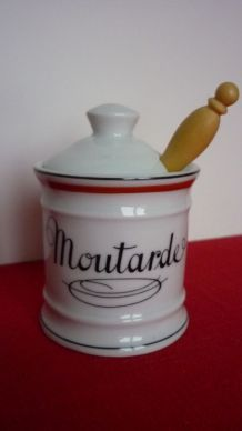 Pot à moutarde Porcelaine d'Auteuil
