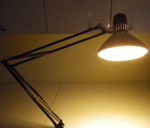 Lampe d architecte 2 bras tubulaires Tôle émaillée