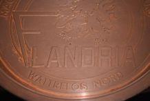 Assiette cuivre pub Flandria