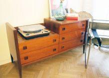 Large commode enfilade scandinave vintage 60's