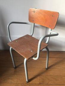 Fauteuil écolier, maternelle, vintage