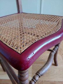 Chaise cannée revisitée