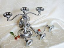 Porte-bougies vintage, Chandelier métal, Cadeau mariage.