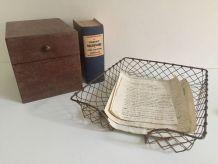 Ancienne bannette à courrier, panière administrative, access