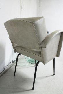 Fauteuil vintage moderniste esprit Guariche 1950