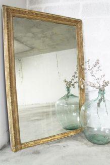 Grand miroir doré vintage  doré années 60