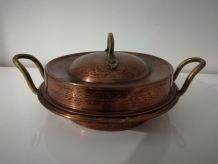 Bonbonnière artisanale en cuivre