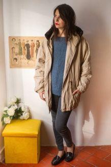 Superbe manteau blouson matelassé avec capuche