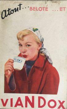 Publicité  VIANDOX  belote 1953