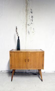 Commode , meuble rangement vintage pieds compas 60's