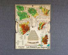 Carte géographie ancienne Paris La France par régions