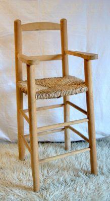 Chaise haute enfant scandinave 70's