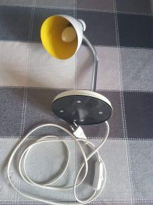 lampe de bureau blanche des années 80