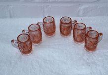 Ensemble de 6 mini chopes à bière vintage shot