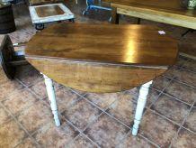 Table pliante ronde en chêne TM017