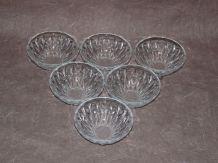 Ensemble de 6 coupes en verre, bols à dessert