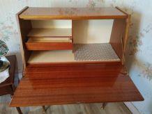 secretaire avec 3 tiroirs  vintage  1970