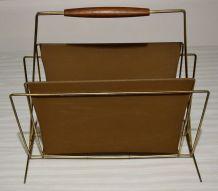 Porte revues en skaï vintage des années 50 60