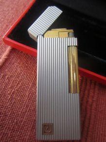 Superbe briquet Charles Jourdan argent et plaqué or