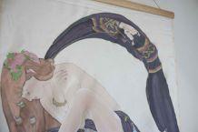 peinture sur soie murale