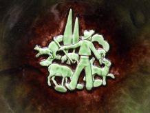 Grand plat céramique signé Marc DELDUC