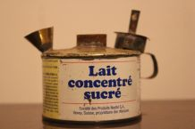 Lampe à huile a partir d'une boite de lait concentré NESTLE