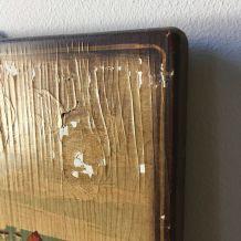 Tableau de bois signé F. Conz