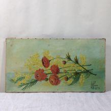 Peinture à l'huile signée 1917