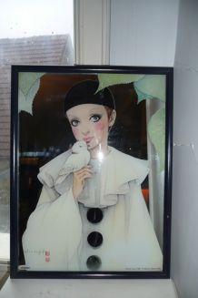 Miroir Pierrot love 1980