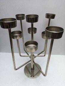 Candélabre en acier inoxydable