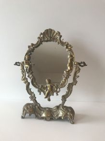 Miroir psyché en bronze doré