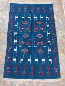 Tapis kilim bleu fait main 150cm*95cm