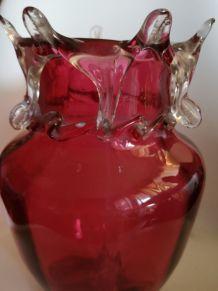 Vases déco rouges