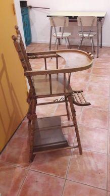 chaise bébé ancienne