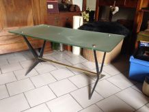 Table basse en verre 1950